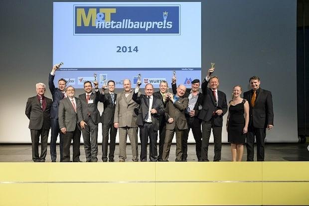 Bild: Die strahlenden Sieger der beiden M&T-Branchenpreise 2014.