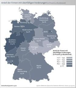 """Quelle: """"obs/Bürgel Wirtschaftsinformationen"""""""